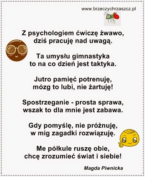 Wierszyk Motywacyjny Na Zajęcia Z Psychologiem