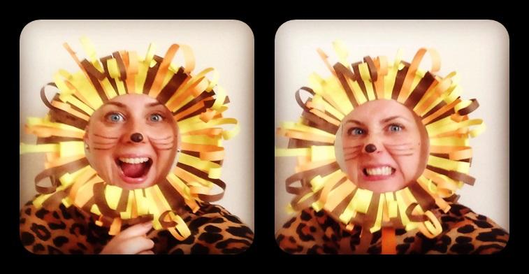 Kreatywność logopedy Katarzyny Stempień nie ma granic. Na zdjęciu — w stroju lwa. fot. prywatne archiwum mojej rozmówczyni